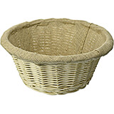 Wicker Lined Proofing / Bread Basket, Round, 10.62""