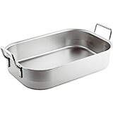 "Stainless Steel Roasting Pan, 23.62"" X 13.75"""