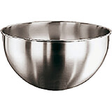 Stainless Steel Mixing Bowl, 1/2 Sphere, No Handle, 10 Qt
