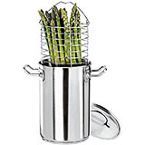 Stainless Steel Asparagus Steamer Pot Set with Basket, 5 Qt.