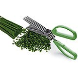 Stainless Steel Herb Scissors, 5 Blades