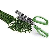 Stainless Steel Herb Scissors, 5 Blades