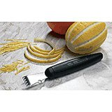 Black, Stainless Steel Lemon Zester, Exoglass Handle