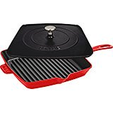 "Cherry, 12"" Cast Iron Grill Press Combo"