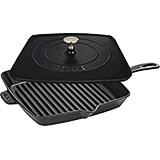 "Black Matte, 12"" Cast Iron Grill Press Combo"