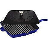 "Dark Blue, 12"" Cast Iron Grill Press Combo"