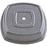 "Granite Gray, 11-1/8"" Square Syracuse Cuadra Plate Covers, 12/PK"