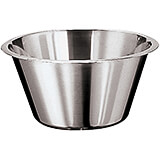 Stainless Steel Mixing Bowl, Flat, 0.5 Qt