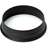 Black, Composite Fiberglass Round Pa+ Cookie Cutter 1.13""