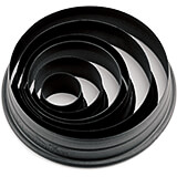 Black, Composite Fiberglass 6-Piece Set Of Pa+ Round Cookie Cutters