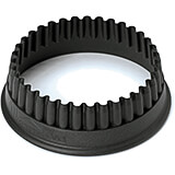Black, Composite Fiberglass Fluted Round Pa+ Cookie Cutter 1.13""