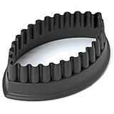 "Black, Composite Fiberglass Fluted Oval Pa+ Cookie Cutter, 2.13"" X 1.38"""