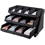 Black, Condiment Holder with 12 Bins