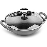 Graphite Grey, Cast Iron Mini Wok, 0.5 Qt