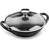 Black Matte, Cast Iron Mini Wok, 0.5 Qt