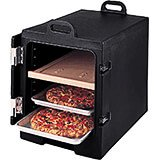 Black, Insulated Food Carrier for 13x18 Sheet Pans, Stackable