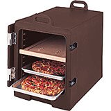 Dark Brown, Insulated Food Carrier for 13x18 Sheet Pans, Stackable
