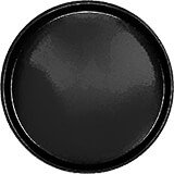 "Black, 13"" Round Serving Tray, Fiberglass, 12/PK"