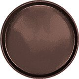"Brazil Brown, 14"" Round Serving Tray, Fiberglass, 12/PK"