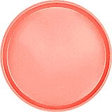 "Dark Peach, 13"" Round Serving Tray, Fiberglass, 12/PK"