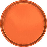 "Citrus Orange, 14"" Round Serving Tray, Fiberglass, 12/PK"