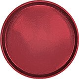 "Cherry Red, 13"" Round Serving Tray, Fiberglass, 12/PK"