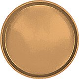 "Suede Brown, 14"" Round Serving Tray, Fiberglass, 12/PK"