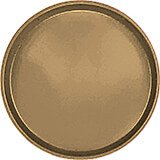 "Bay Leave Brown, 16"" Low Profile Round Serving Tray, Fiberglass, 12/PK"