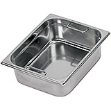 "Stainless Steel Hotel Pan 1/2 Gn with Interior Handles, 6"" Deep"