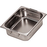 "Stainless Steel Hotel Pan 2/1 Gn with Retractable Handles, 7.88"" Deep"