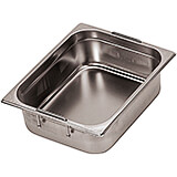 "Stainless Steel Hotel Pan 1/1 Gn with Retractable Handles, 2.5"" Deep"
