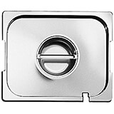 Stainless Steel Hotel Pan Lid 1/2 Gn with Handle, Side Notches and Ladle Notch