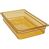 "Amber, 1/1 GN High Heat Food Pan, 4"" Deep, 6/PK"
