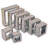Stainless Steel Square Pastry / Cookie Cutters, Set Of 8