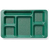Sherwood Green, 2x2 Polycarbonate 6-Compartment Cafeteria Trays 24/PK