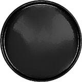 "Black, 19-1/2"" Low Profile Round Serving Tray, Fiberglass, 12/PK"