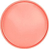 "Dark Peach, 19-1/2"" Low Profile Round Serving Tray, Fiberglass, 12/PK"