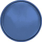 "Amazon Blue, 19-1/2"" Low Profile Round Serving Tray, Fiberglass, 12/PK"