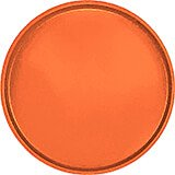 "Citrus Orange, 19-1/2"" Low Profile Round Serving Tray, Fiberglass, 12/PK"