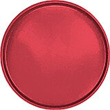 "Ever Red, 19-1/2"" Low Profile Round Serving Tray, Fiberglass, 12/PK"