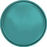"Teal, 16"" Round Serving Tray, Fiberglass, 12/PK"