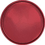 "Cherry Red, 16"" Round Serving Tray, Fiberglass, 12/PK"