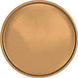 "Suede Brown, 19-1/2"" Low Profile Round Serving Tray, Fiberglass, 12/PK"