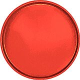 "Signal Red, 16"" Round Serving Tray, Fiberglass, 12/PK"