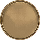 "Bay Leave Brown, 19-1/2"" Low Profile Round Serving Tray, Fiberglass, 12/PK"