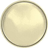 "Lemon Chiffon, 19-1/2"" Low Profile Round Serving Tray, Fiberglass, 12/PK"