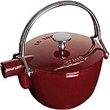 Grenadine, Round Cast Iron Teapot / Kettle, 1 Qt