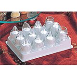 Clear, Polycarbonate Set Of 10 Universal Icing Tips, Assorted