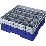 "Blue, 9 Comp. Glass Rack, Full Size, 6-7/8"" H Max."