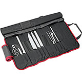 Black, 9-Piece Culinary Knife Set W/ Knife Roll